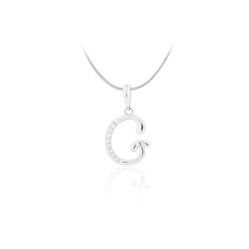 Luxusní přívěsek z oceli sagapo písmeno l